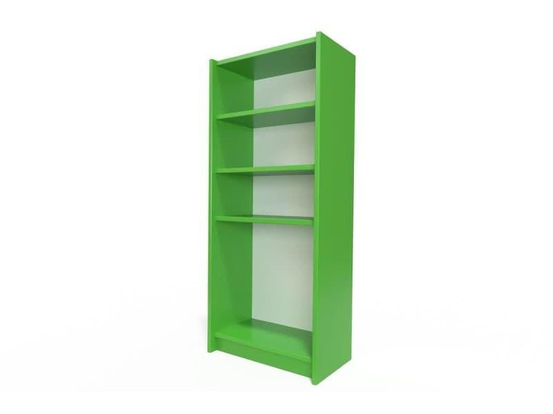 Étagère bibliothèque bois vert ETABIB-VE