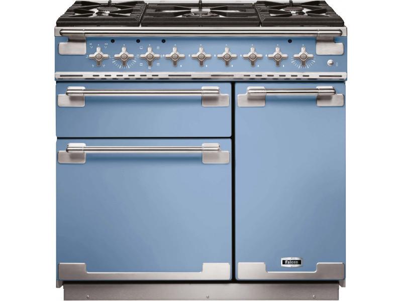 Cuisinière falcon els 90 dfca eu 5 foyers - gaz - bleu de chine ...