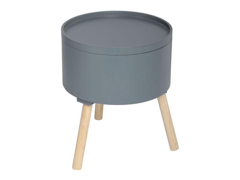 table basse oshi gris fonc vente de atmosphera conforama. Black Bedroom Furniture Sets. Home Design Ideas