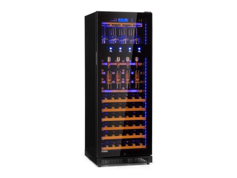 Klarstein first class 84 cave à vin réfrigérée 320 litres / 84 bouteilles - température réglable entre 5 et 22° - noir HEA18 - H120S-F1
