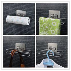 Porte-serviettes de style contemporain en laiton chromé à fixation murale