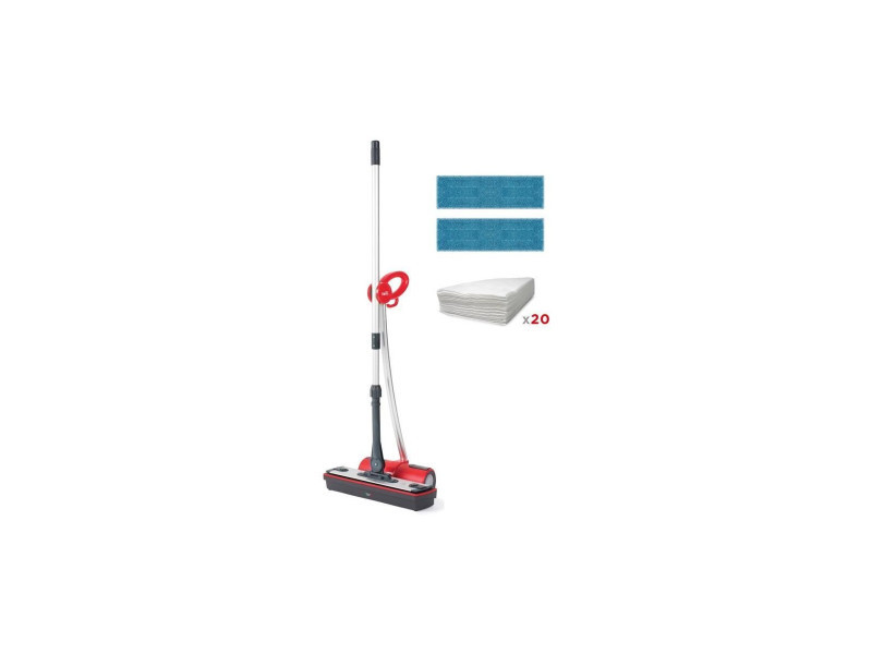 Polti moppy extra dust balai vapeur sans fil multi-surfaces - 1500 w - reservoir 0,7 l - rouge POL8007411011962