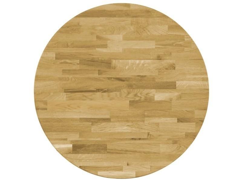 Moderne accessoires pour tables ligne port-louis dessus de table bois de chêne massif rond 23 mm 500 mm