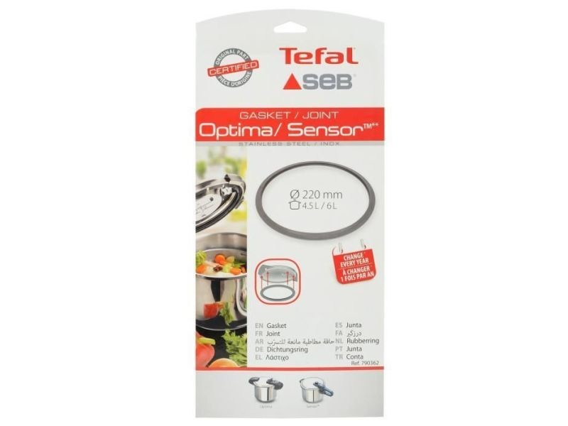 Accessoires pour autocuiseurs joint autocuiseur inox 790362 4,5-6l ø24cm gris