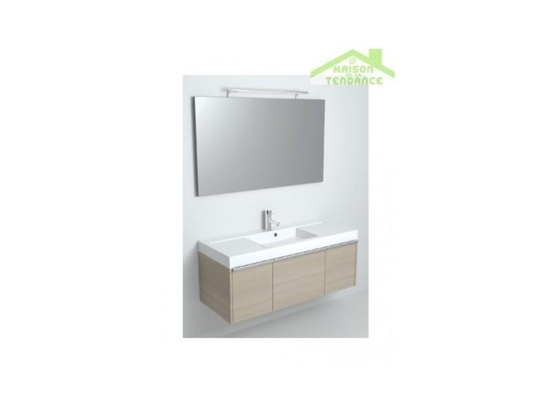 Ensemble meuble & lavabo riho andora set 05 120x48 x h 48 cm - bois laqué brillant FAN120*GLOSSGLOSS*S05