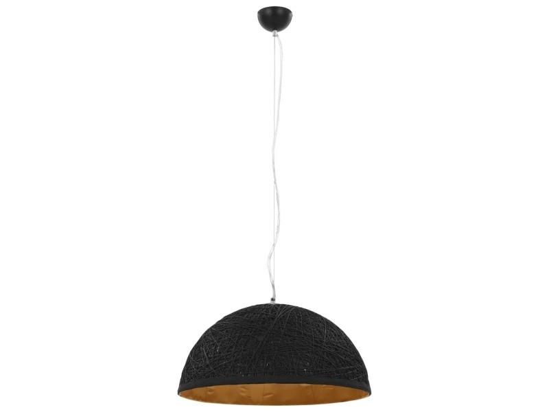 Vidaxl lampe suspendue noir et doré ø50 cm e27 50938