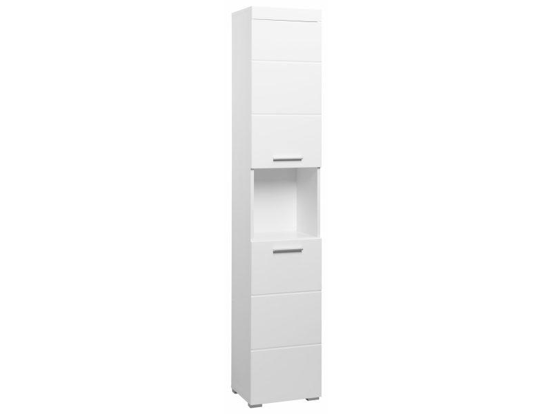 Colonne de rangement pour salle de bain design 190 cm - Meuble colonne salle de bain conforama ...