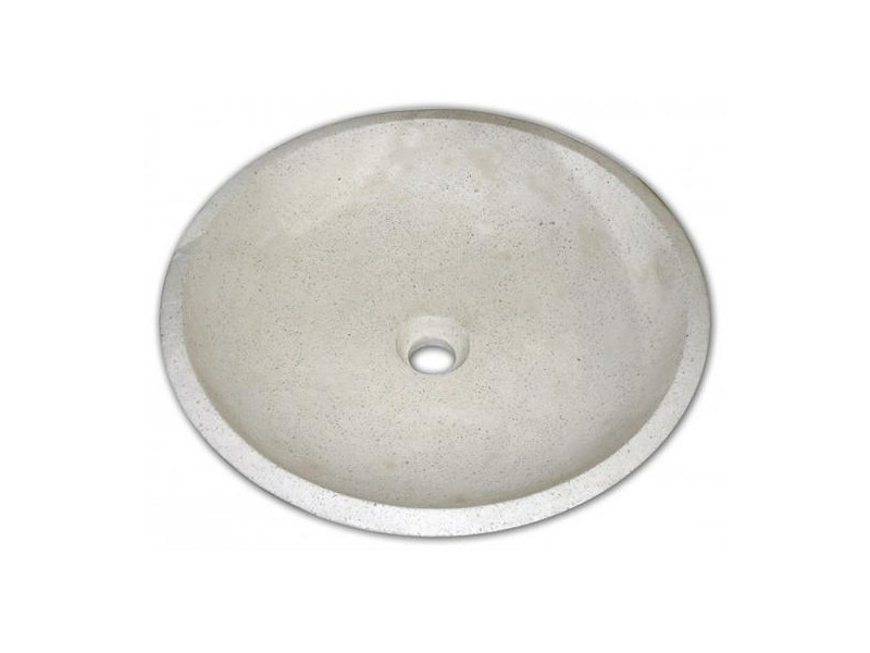 Aqua+ - vasque en terrazzo ø 44 cm crème - gela