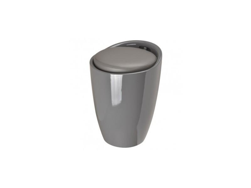 Tabouret pouf pop gris anthracite