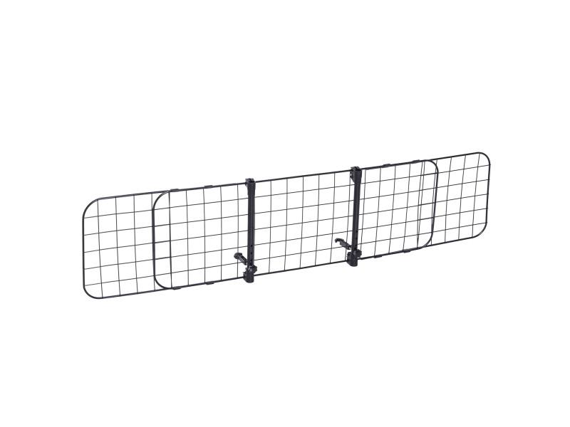 Barrière grille de séparation universelle voiture pour animaux longueur réglable dim. 91-145l x 30h cm kit complet installation inclus noir