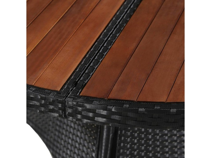 Icaverne - tables d'extérieur serie table d'extérieur résine tressée et bois d'acacia 115 x 74 cm