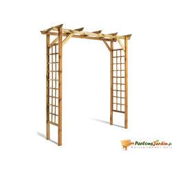 Pergola double droite en bois valériane