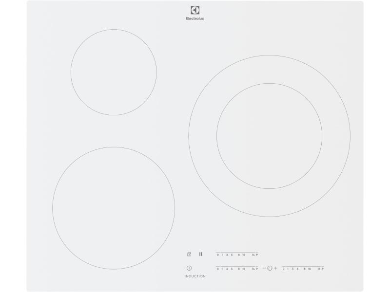 Table de cuisson à induction 59cm 3 feux 7350w blanc - lit60342cw lit60342cw