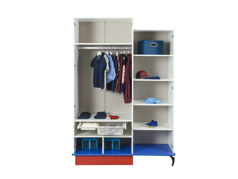 Armoire enfant à 3 portes design spiderman marvel coloris blanc ...