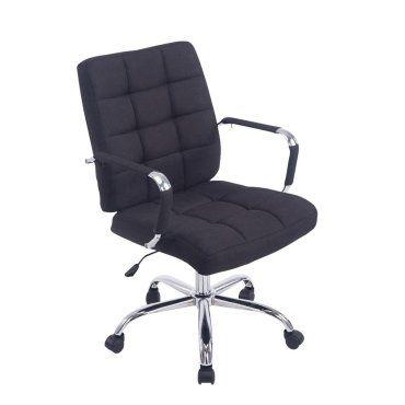 Chaise fauteuil de bureau roulettes en tissu noir hauteur