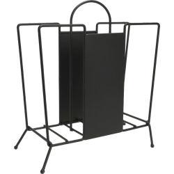 Porte revues déco métal noir