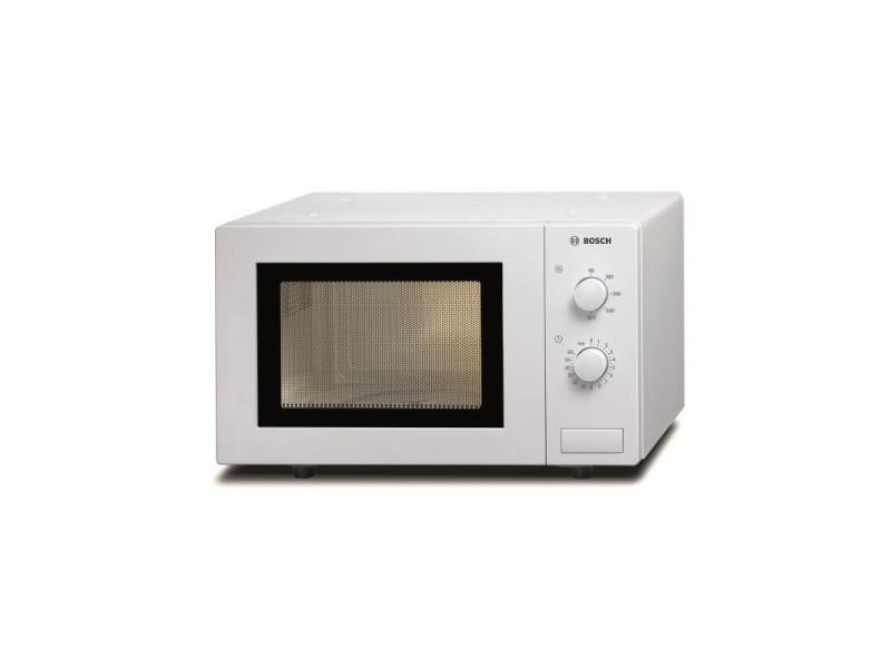 Micro-ondes posable 800w 17l blanc - facile d'utilisation, 5 niveaux de puissance et commandes mécaniques