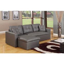 canap convertible canap d 39 angle gris conforama. Black Bedroom Furniture Sets. Home Design Ideas