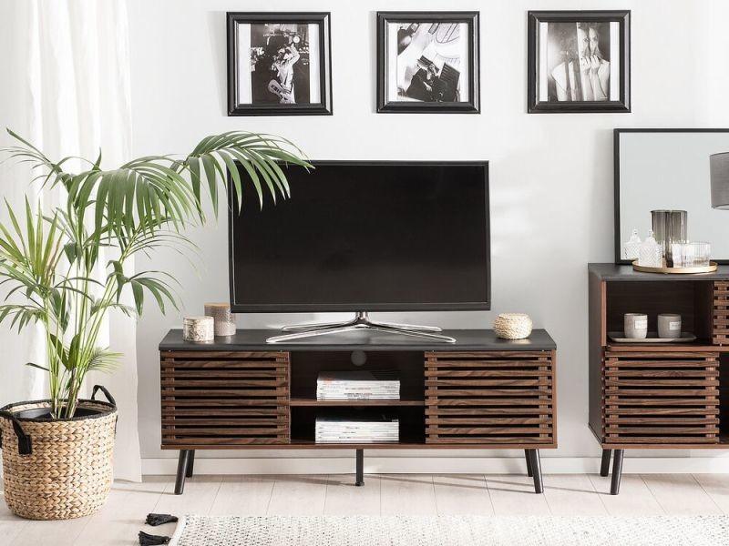 Meuble tv en bois foncé perth 185794