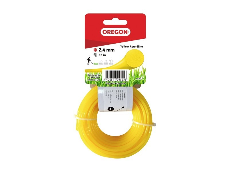 Fil rond jaune 2.4mm 15m 545049