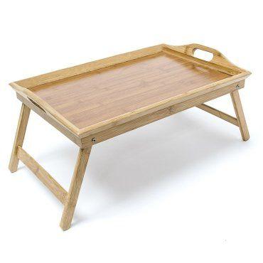 tablette de lit pliable plateau petit déjeuner bambou helloshop26