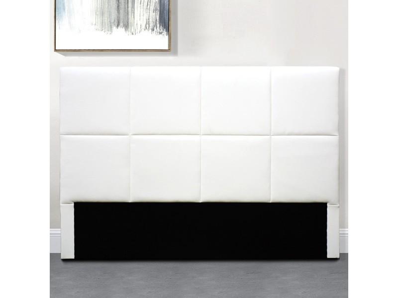 Tête de lit design alexi - blanc - 140 cm