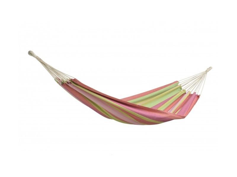 Hamac coton simple à rayures couleur vive bubblegum AZ- 1013111
