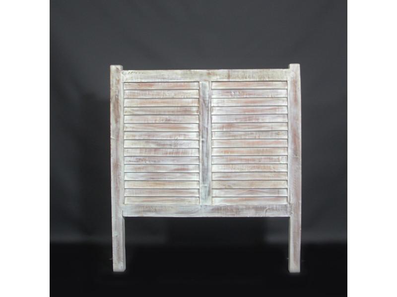 tete de lit en bois de manguier 100cm mk08 bois blanchi. Black Bedroom Furniture Sets. Home Design Ideas