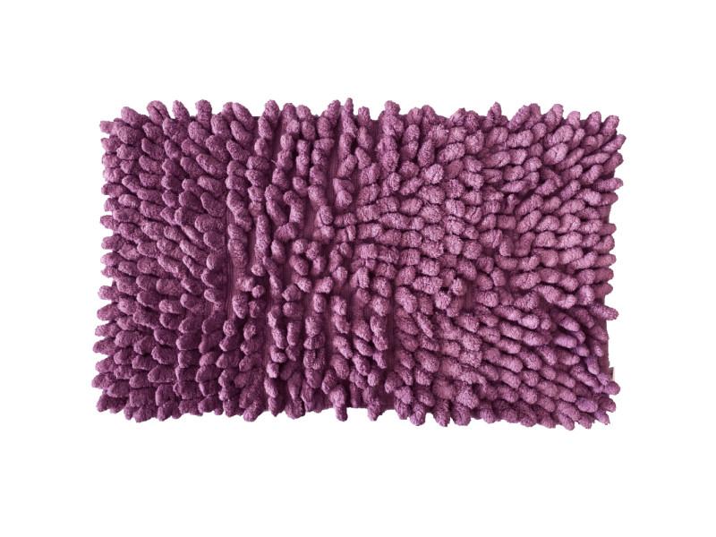 Carpette de bain figue en coton 50 x 80 cm
