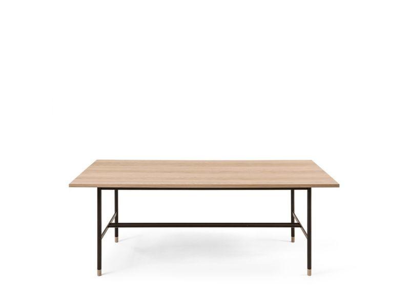 Jugend - table à manger en bois et métal 200x95cm - couleur - chêne 222210001162