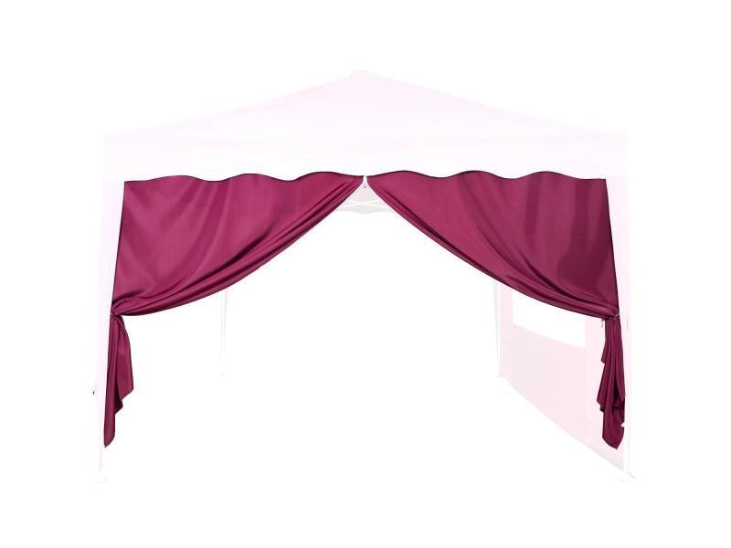 Instent® panneau latéral avec fermeture à glissière, sans fenêtre, coloris au choix - couleur : rouge