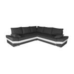 Canapé samos angle reversible convertible avec coffre anthracite blanc