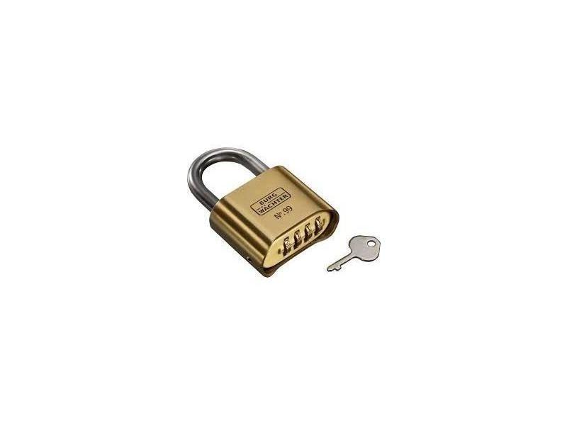 Serrure - barillet - cylindre - verrous burg-wächter cadenas no. 99 ni 50 sb - anse en acier inoxydable