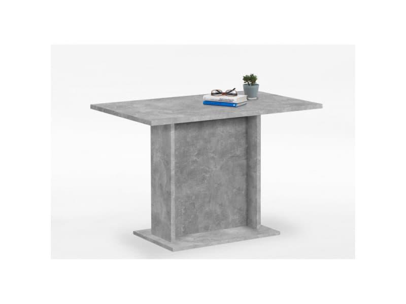 Fmd table de salle à manger 110 cm gris béton 428697