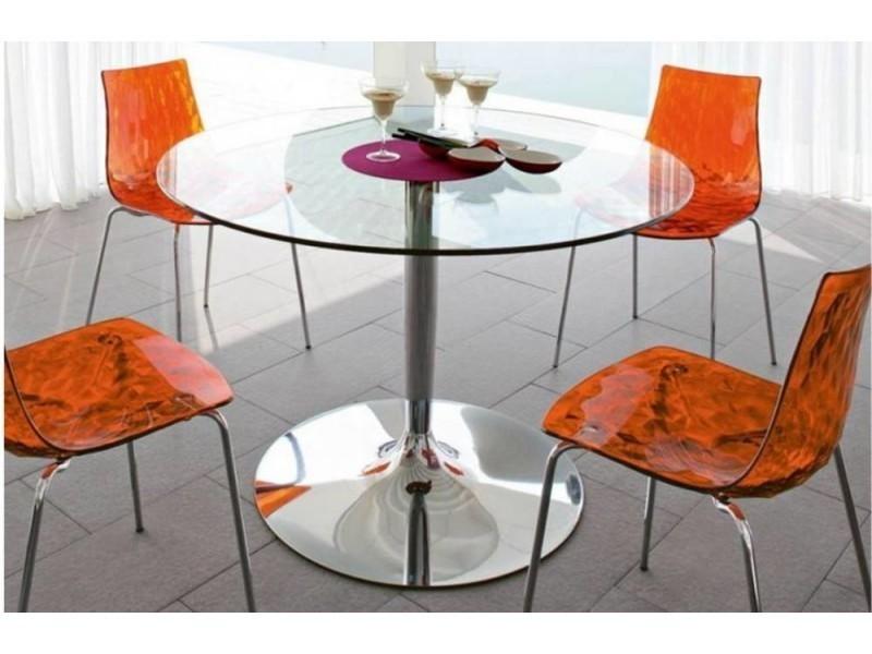 Table repas ronde planet en verre 20100838601
