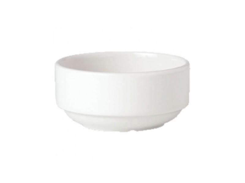 Bols à soupe 285ml empilables steelite simplicity white - vendus par 36 - 0 cm porcelaine 28,5