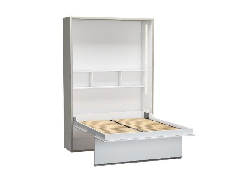 armoire lit beluga couchage 140 x 200 cm profondeur 50 cm