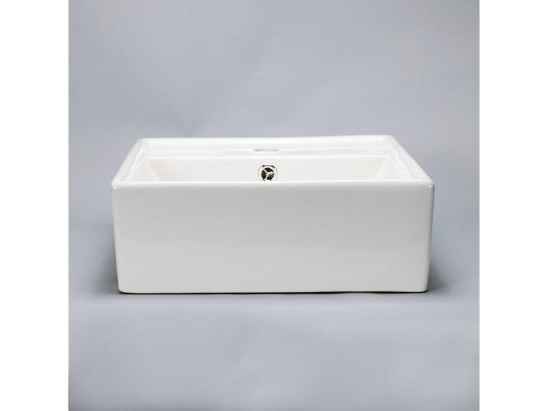 vasque semi encastrable carr e c ramique 41x41 cm pure vente de rue du bain conforama. Black Bedroom Furniture Sets. Home Design Ideas