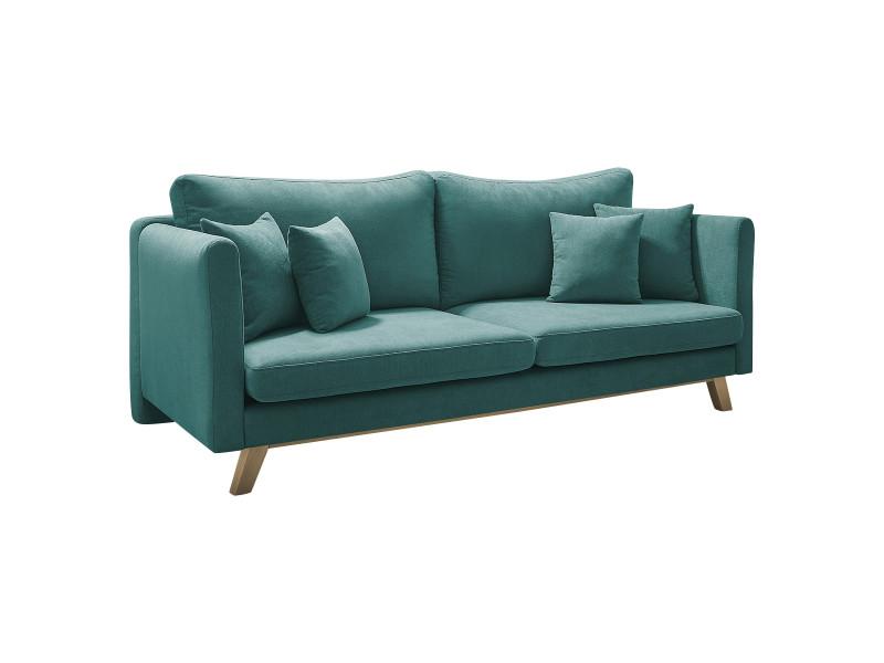 canape 3 places convertible triplo bleu canard vente de. Black Bedroom Furniture Sets. Home Design Ideas