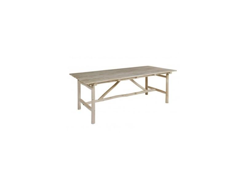 Table à manger d\'extérieur bois flotté capri 220 cm - Vente ...