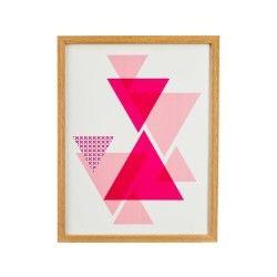 Cadre imprimé lovely - 24 x 31 - rose
