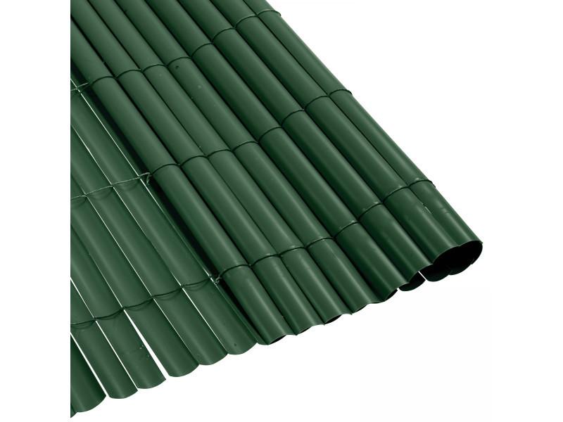 Canisse pvc vert 900 g m 1 5 x 5 m tres vente de for Panneau brise vue pvc reims