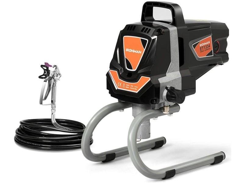 Giantex Machine de Pulvérisation à Haute Pression 3000PSI, Pistolet de Peinture Murale, Fonctionnement en Courant fort 1,5 L/min Peinture à Moteur pour l'Extérieur de la Maison