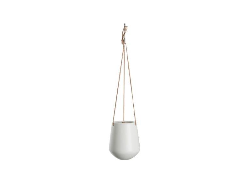 Cache-pot suspendu médium skittlie - h. 65 cm - blanc mat