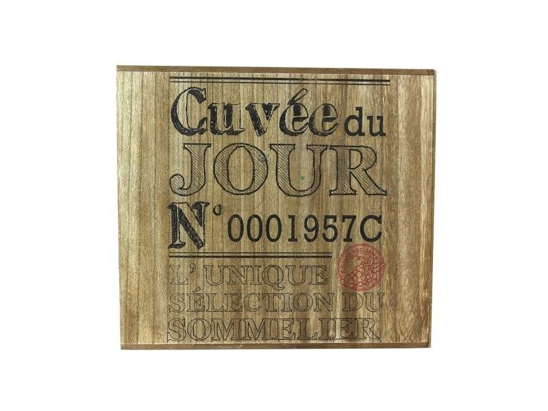 Cave à vin 6 bouteilles bois cuvée du jour