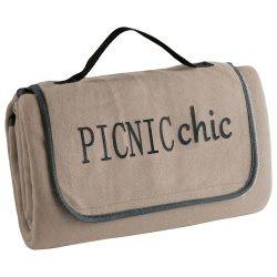 Plaid pique-nique 125x150cm bicolore garden taupe/anthracite