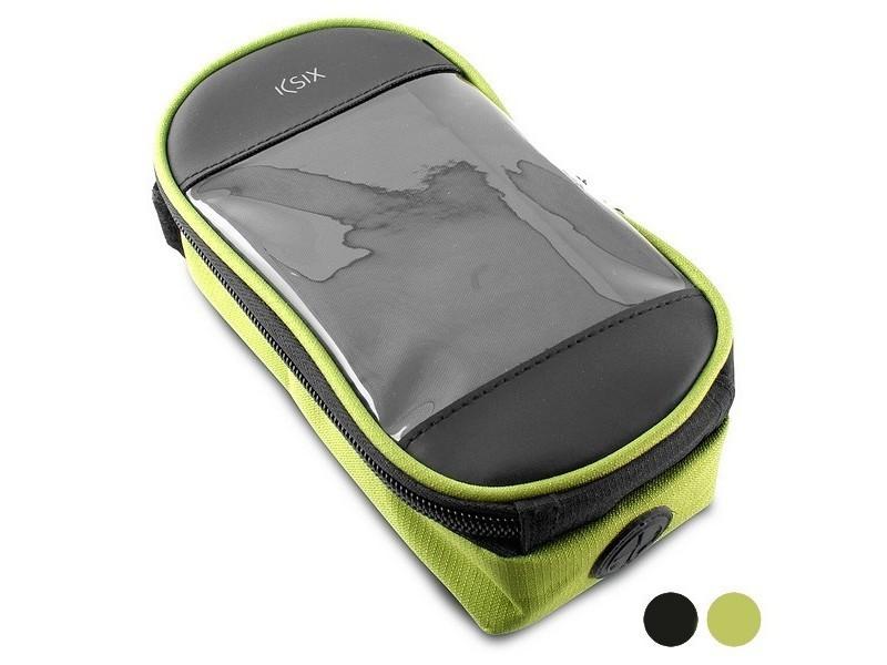 Sac pour vélo waterproof (17 x 8,5 x 4 cm) - sacoche de protection compatible smartphone couleur - noir