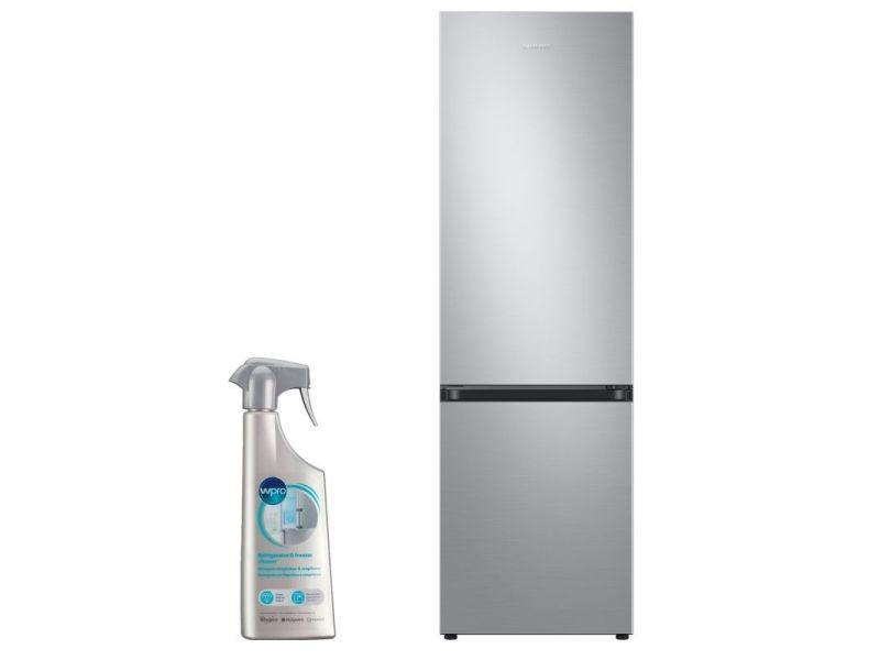 Réfrigérateur frigo combiné inox 360l froid ventilé no-frost
