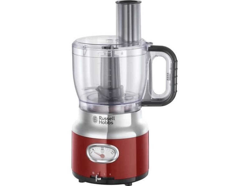 Russell hobbs 25180-56 - robot multifonction retro - 850 w - rouge RUS4008496976799