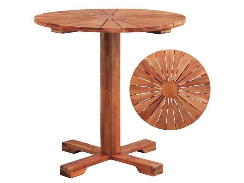 Splendide meubles de jardin reference chi?in?u table sur pied bois d'acacia massif 70 x 70 cm rond